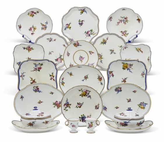 AN ASSEMBLED GROUP OF SEVRES PORCELAIN TABLE WARES - photo 1