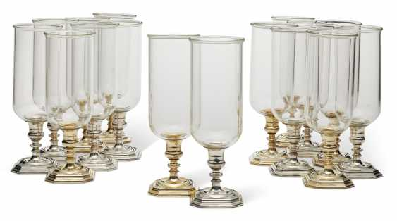 A SET OF SIXTEEN ITALIAN SILVER-PLATED AND GLASS PHOTOPHORES - photo 1