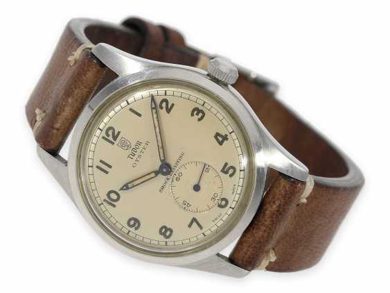 Watch: very beautiful, rare vintage men's watch in steel, Tudor Oyster Ref. 4463, around 1950 - photo 1