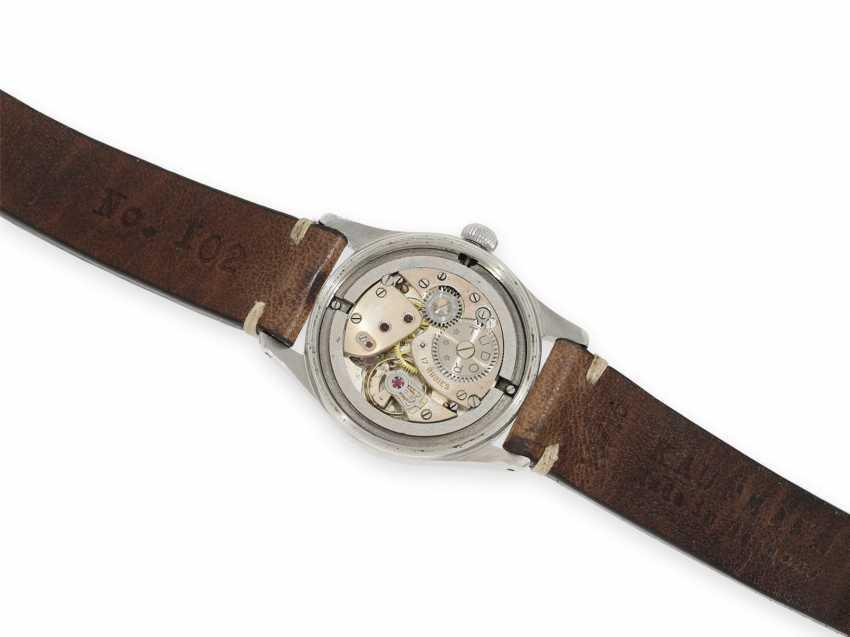 Watch: very beautiful, rare vintage men's watch in steel, Tudor Oyster Ref. 4463, around 1950 - photo 3