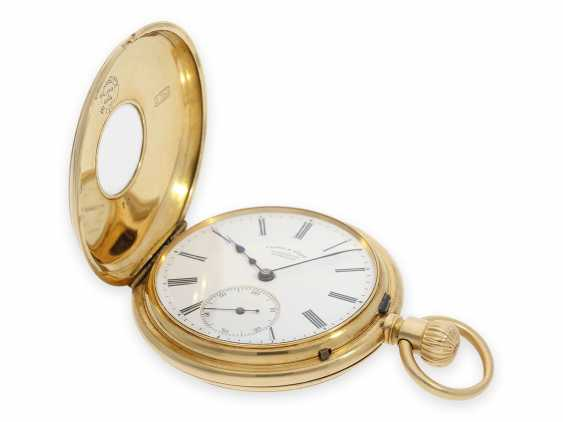 """Pocket watch: early A. Lange & Söhne pocket watch in the rare case shape """"Half Savonnette"""", best quality 1A, No. 27177, Glashütte approx. 1890, with extract from the archives - photo 2"""