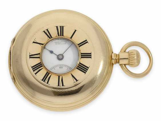 """Pocket watch: early A. Lange & Söhne pocket watch in the rare case shape """"Half Savonnette"""", best quality 1A, No. 27177, Glashütte approx. 1890, with extract from the archives - photo 3"""
