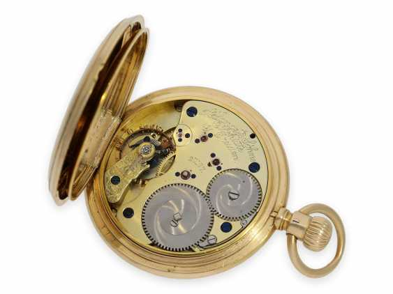 """Pocket watch: early A. Lange & Söhne pocket watch in the rare case shape """"Half Savonnette"""", best quality 1A, No. 27177, Glashütte approx. 1890, with extract from the archives - photo 4"""