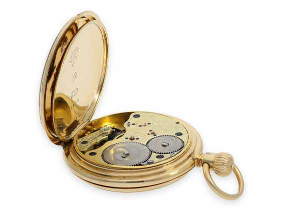 """Pocket watch: early A. Lange & Söhne pocket watch in the rare case shape """"Half Savonnette"""", best quality 1A, No. 27177, Glashütte approx. 1890, with extract from the archives - photo 5"""