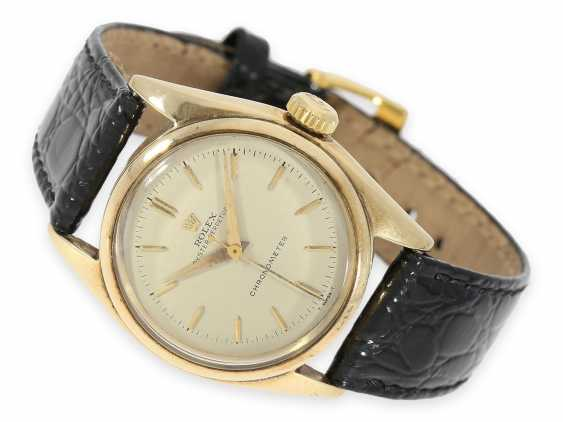 Wrist watch: early Rolex Bubble Back Chronometer with center seconds, rare Ref. 5048, around 1948 - photo 1