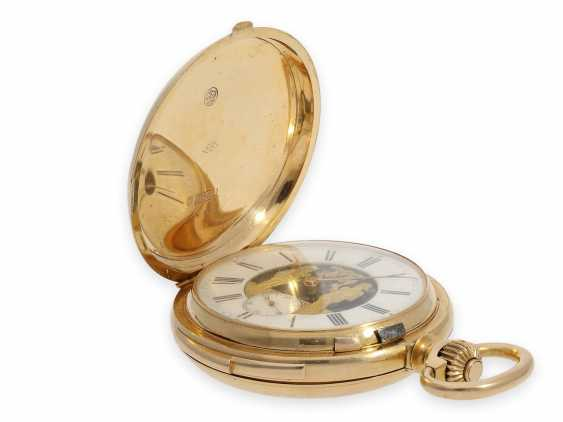 Pocket watch: exquisite and very rare Le Coultre gold savonnette with figure machine Jacquemart and minute repeater No.1968, Switzerland around 1895 - photo 2