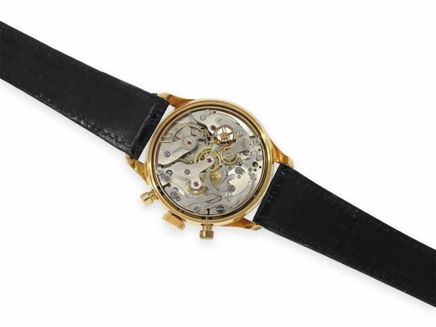 Wristwatch: extremely rare, large gold chronograph with black dial, Invicta 1940s - photo 2