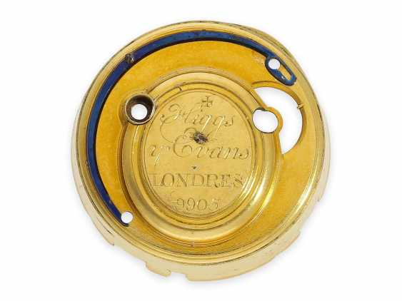 Pocket watch: exquisite, English 22K double case gold / enamel spindle watch with repeater, Higgs & Evans No.9905, Londres, around 1780 - photo 4