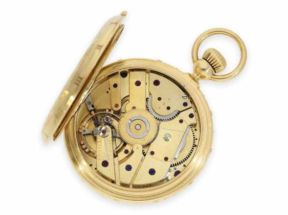 "Pocket watch: absolute rarity, museum and possibly unique Ekegren pocket chronometer ""Montre à Tact"" with calendar, no. 14546, Geneva around 1870 - photo 4"