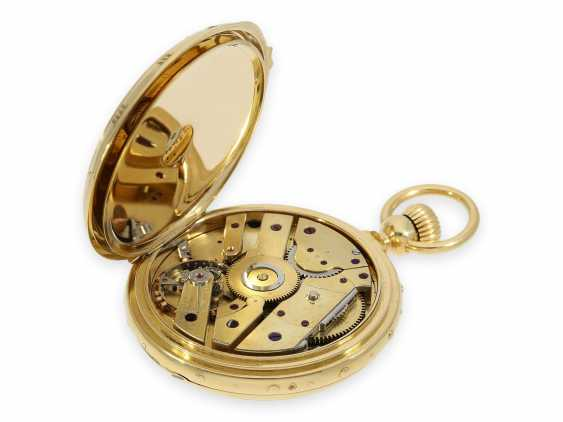 "Pocket watch: absolute rarity, museum and possibly unique Ekegren pocket chronometer ""Montre à Tact"" with calendar, no. 14546, Geneva around 1870 - photo 5"