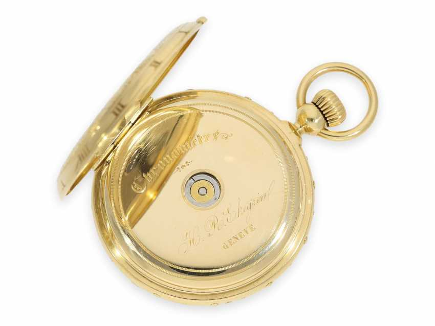 "Pocket watch: absolute rarity, museum and possibly unique Ekegren pocket chronometer ""Montre à Tact"" with calendar, no. 14546, Geneva around 1870 - photo 7"