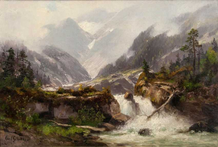 Waterfall in the mountains - photo 1
