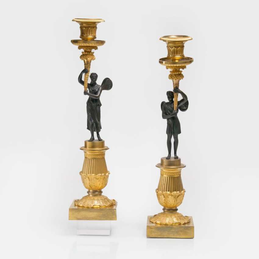 Pair of fine Empire candelabra 'Hypnos' and 'Psyche' - photo 1