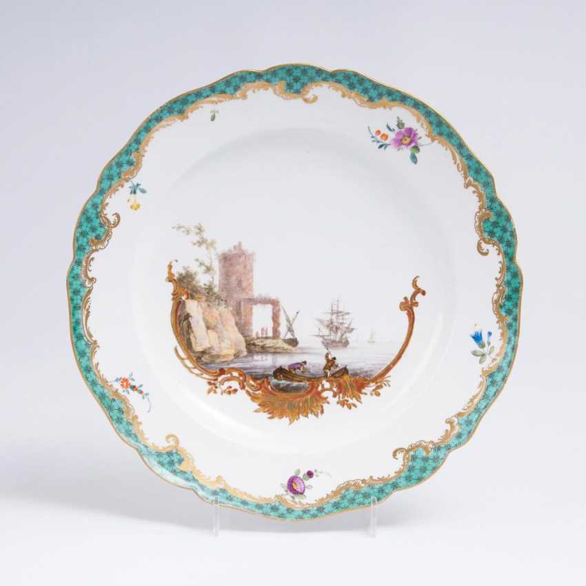 Plate with coastal landscape - photo 1