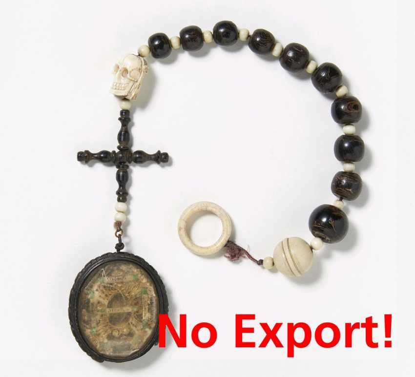 Rosary of ten made from rare black coral - photo 1