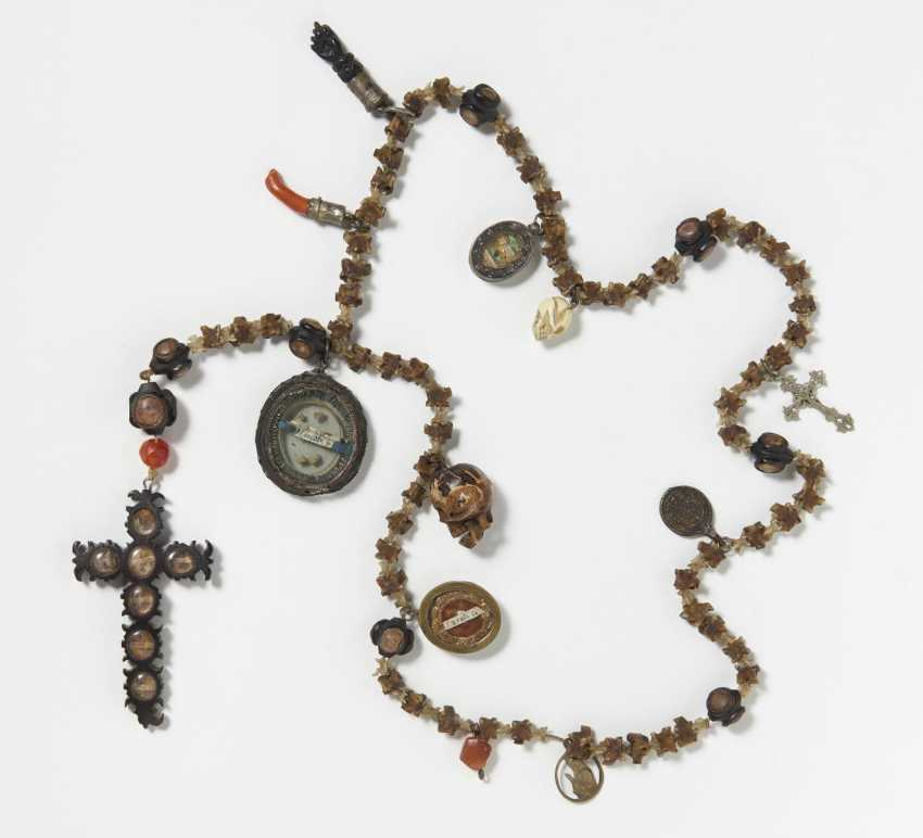 Rosary made from snake vertebrae with pendants - photo 1