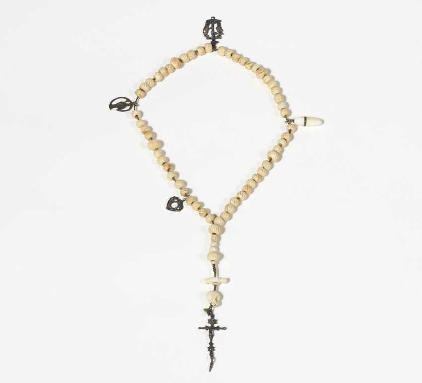 Rosary with a skull - photo 1