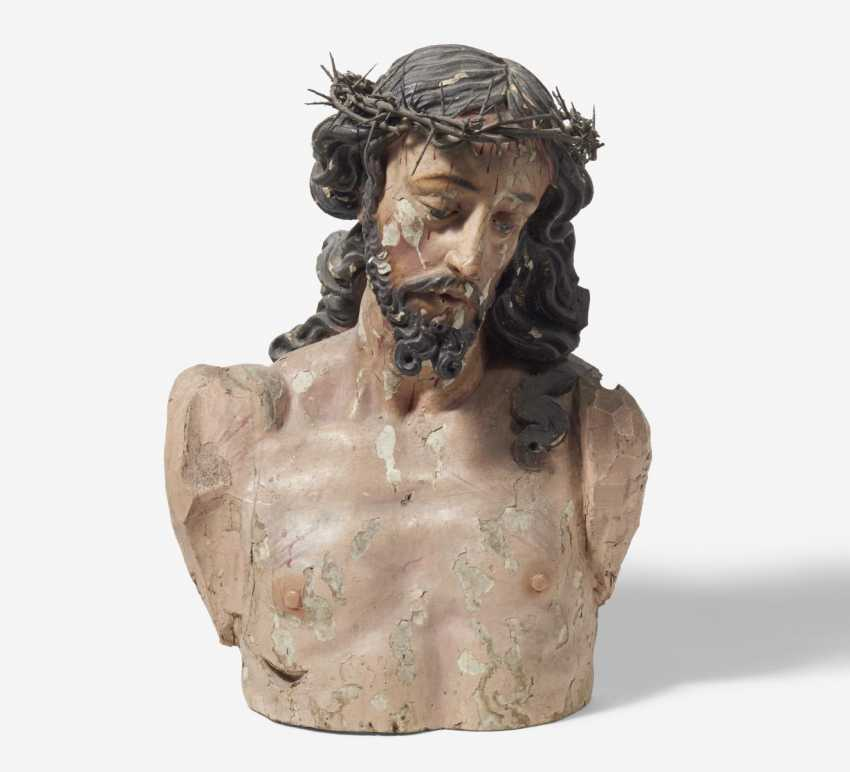 Bust of Christ with a crown of thorns - photo 1
