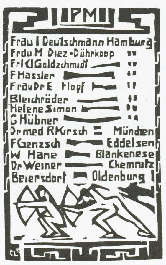 "Membership card for the passive members of the ""Brücke"" - photo 4"