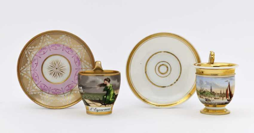 Two cups with saucers - photo 1