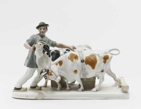 Farmer with team of oxen - photo 1