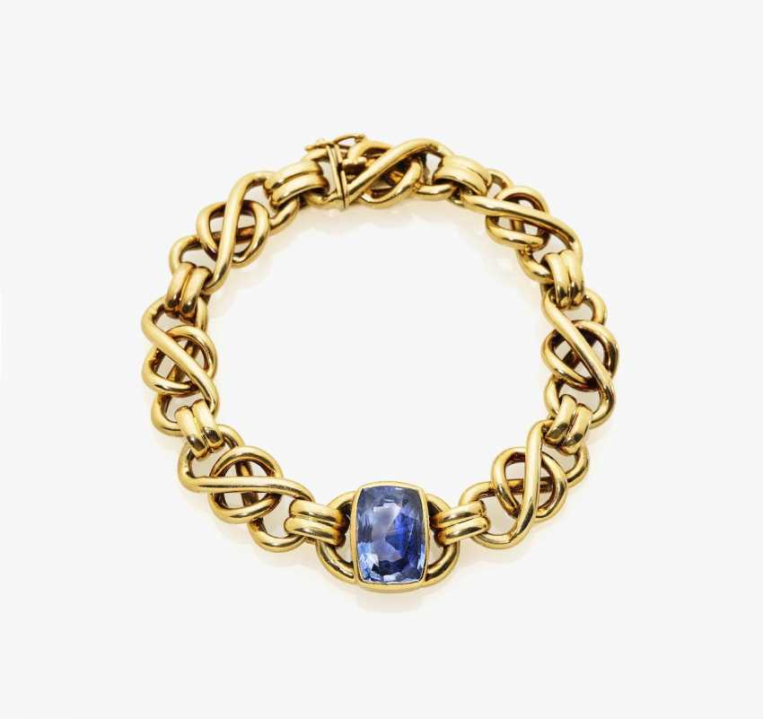 Bracelet with sapphire - photo 1