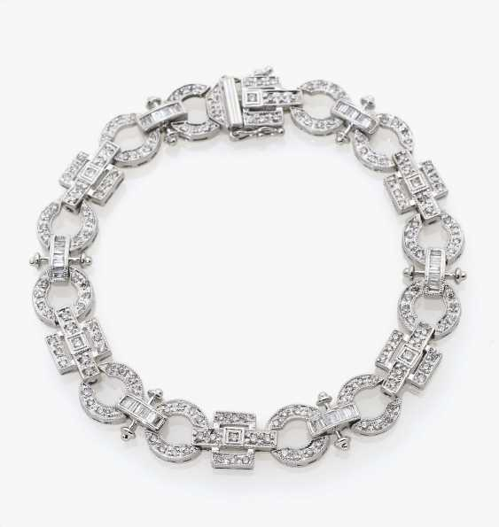 Fancy link bracelet with brilliants and diamonds - photo 1
