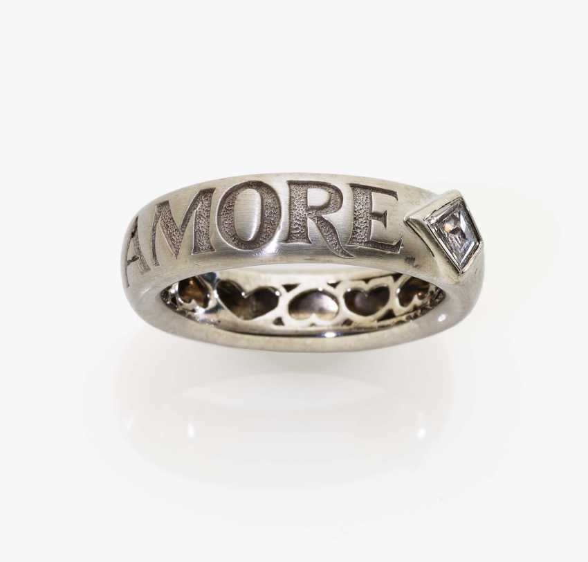Ring with inscription Amore - photo 1
