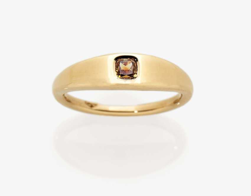 Bandring with fancy yellow-orange diamonds - photo 1