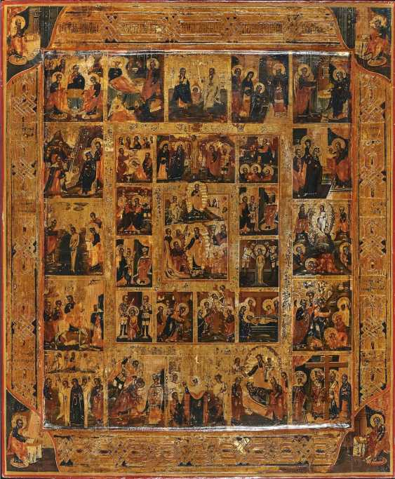 Extended holiday icon with a journey into hell and the resurrection of Christ - photo 1