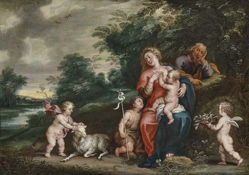 The Holy Family with the boy John and angels - photo 1