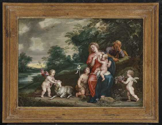 The Holy Family with the boy John and angels - photo 2