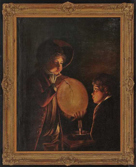 Town children with balloon in candlelight - photo 2