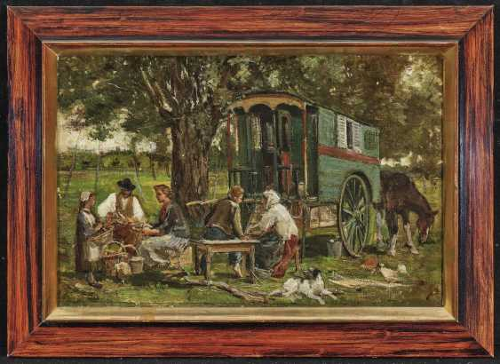 Camp family with covered wagon - photo 2
