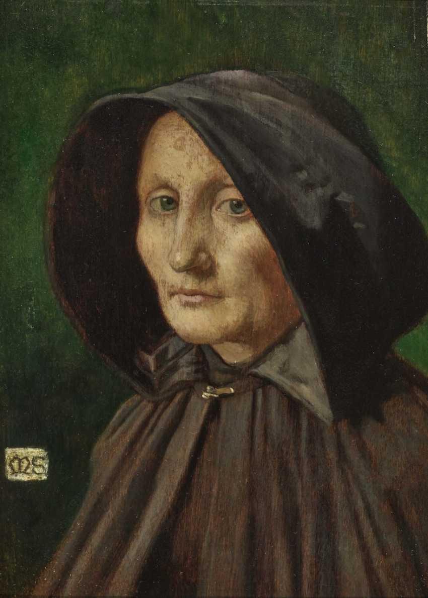 Portrait of an Elderly Woman in a Coat - photo 1