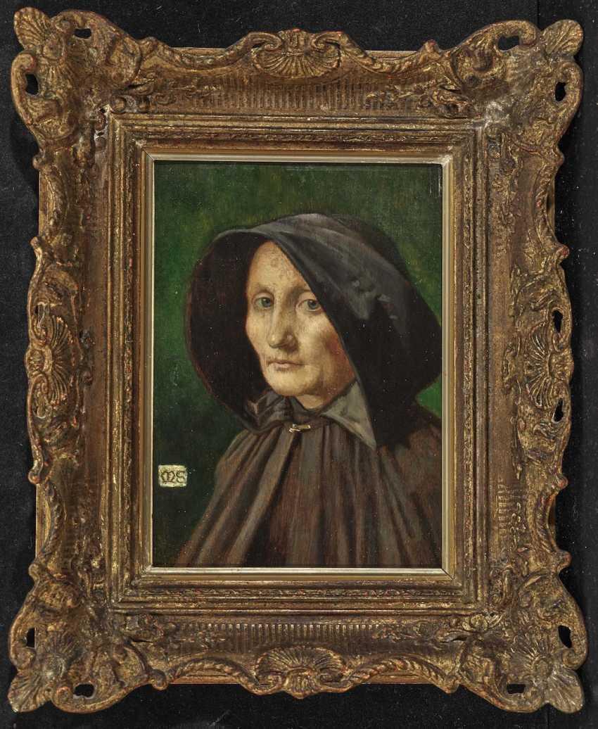 Portrait of an Elderly Woman in a Coat - photo 2