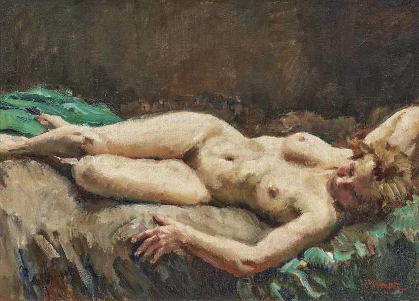 Reclining female nude - photo 1