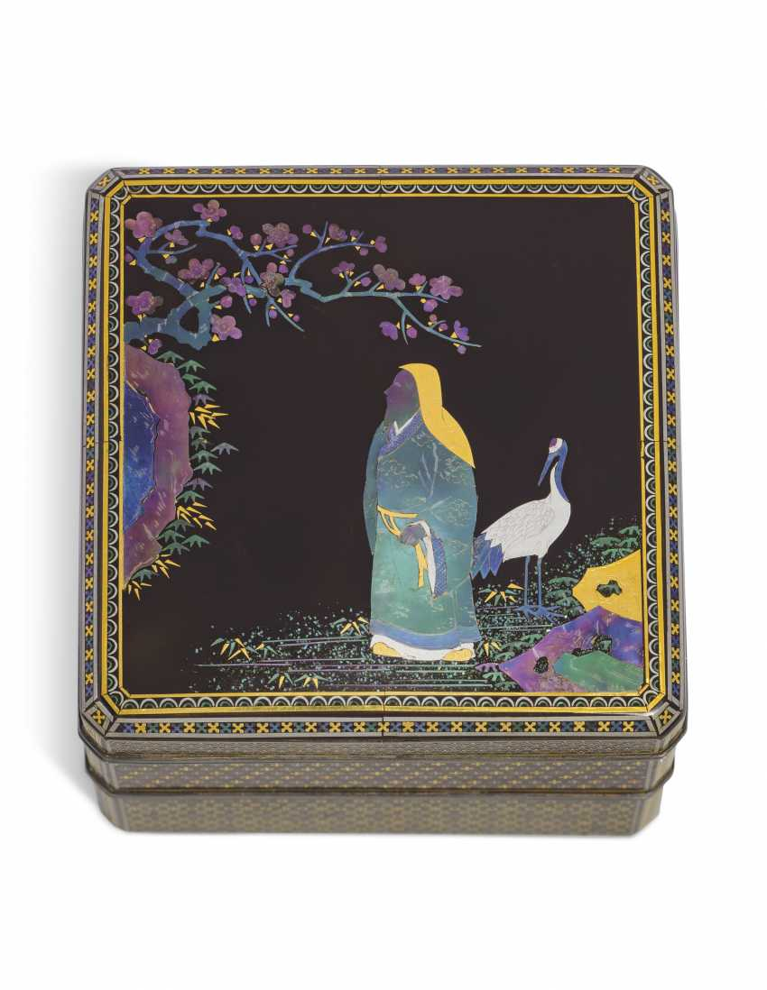 A FINE TWO-TIERED SOMADA INCENSE BOX (KOGO) - photo 2