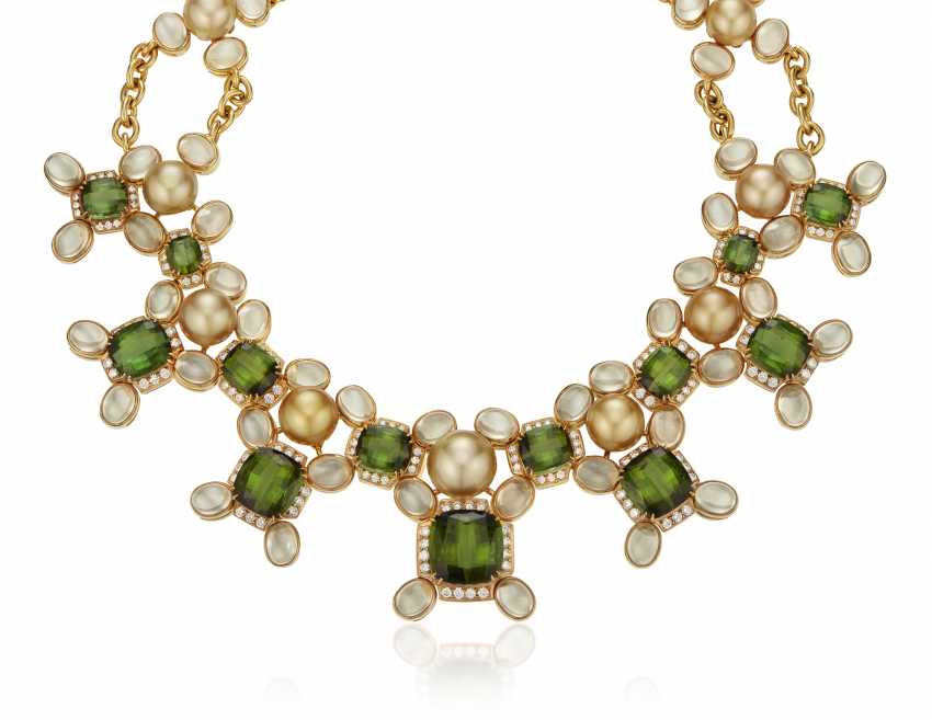 PRINCE DIMITRI FOR ASSAEL CULTURED PEARL, DIAMOND AND MULTI-GEM NECKLACE - photo 1