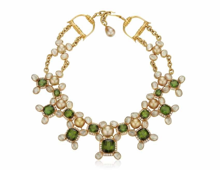 PRINCE DIMITRI FOR ASSAEL CULTURED PEARL, DIAMOND AND MULTI-GEM NECKLACE - photo 2