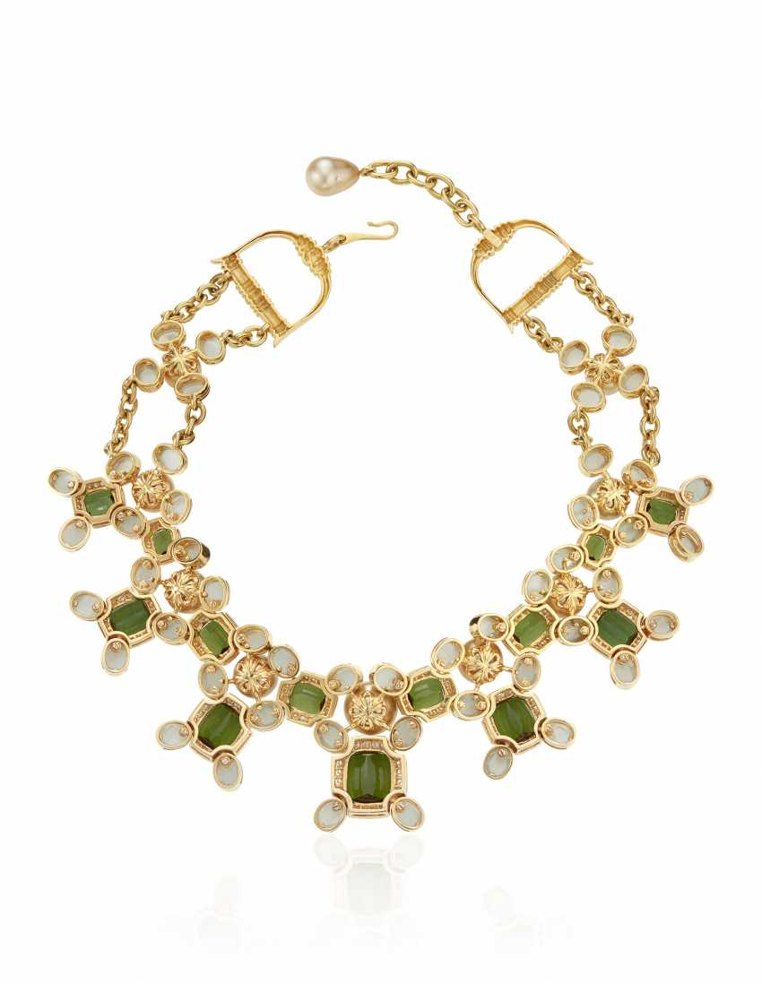 PRINCE DIMITRI FOR ASSAEL CULTURED PEARL, DIAMOND AND MULTI-GEM NECKLACE - photo 3