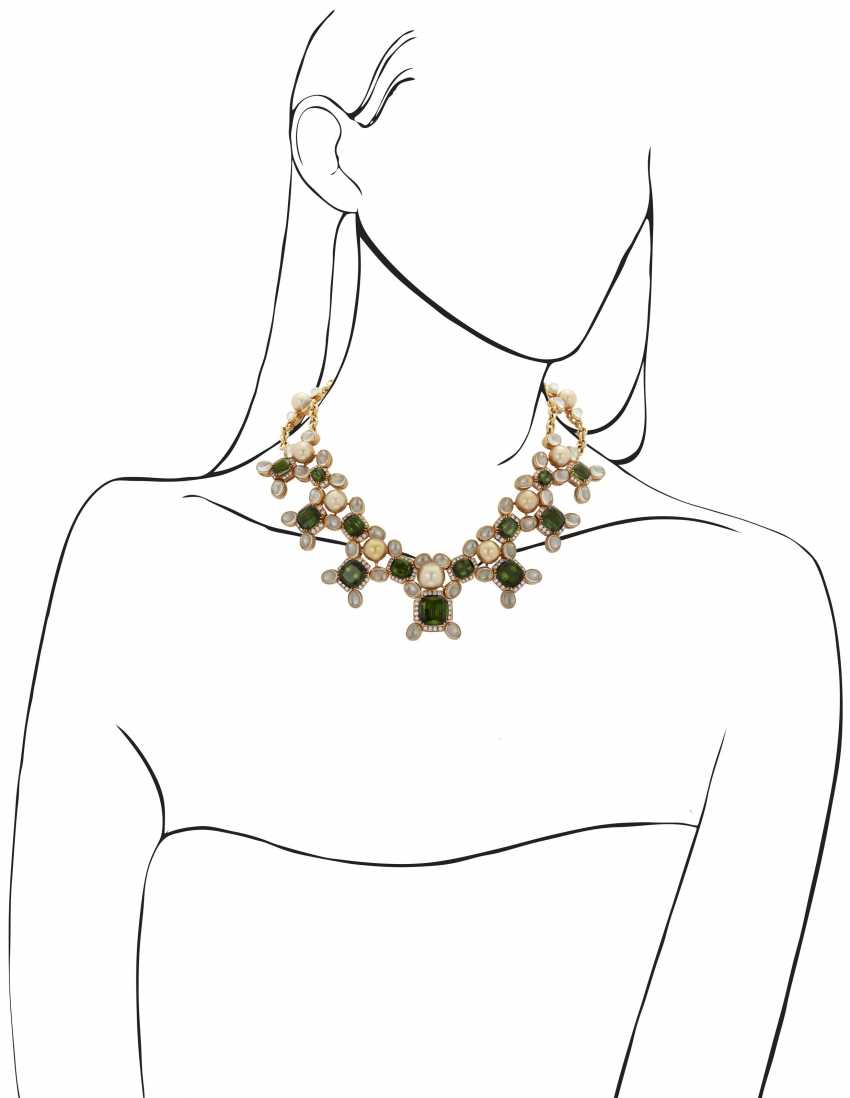 PRINCE DIMITRI FOR ASSAEL CULTURED PEARL, DIAMOND AND MULTI-GEM NECKLACE - photo 4