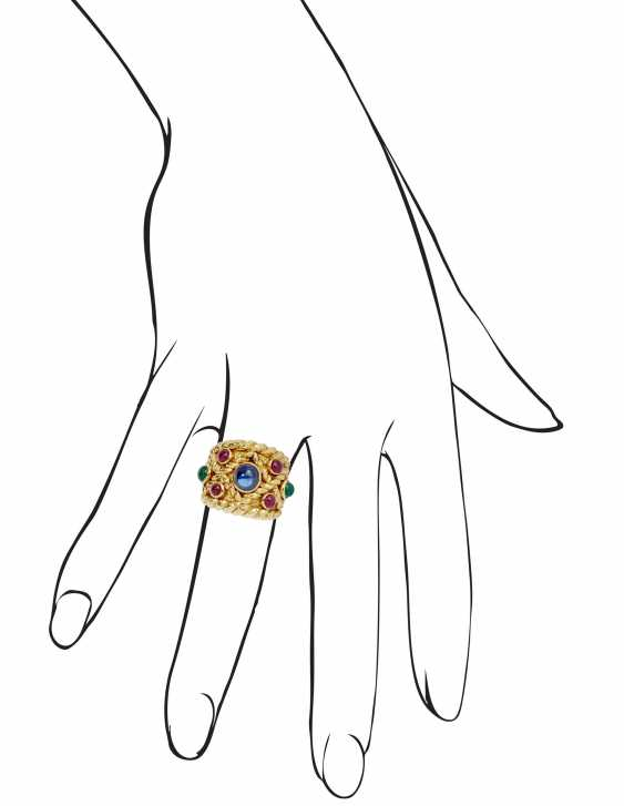 DAVID WEBB MULTI-GEM AND GOLD RING AND EARRINGS - photo 4
