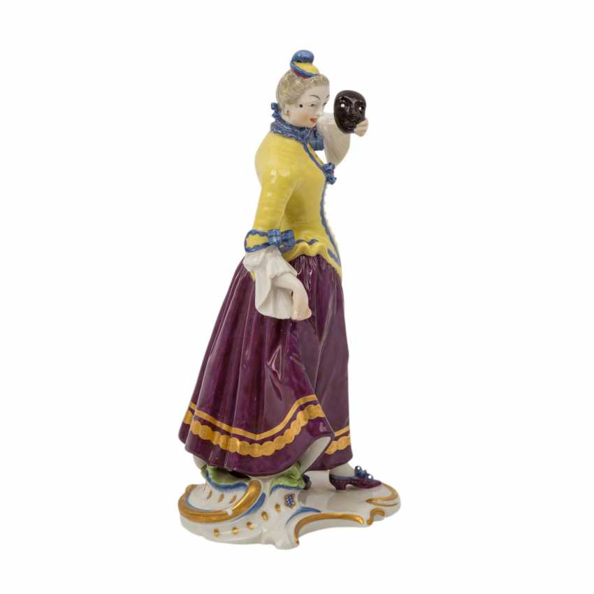 """NYMPHENBURG """"Colombine"""" comedian character from the Commedia dell'arte series, 20th century - photo 4"""