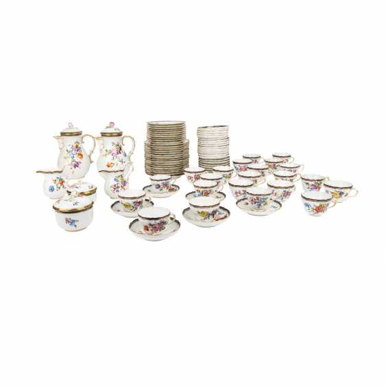 MEISSEN extensive coffee service for up to 15 people, 19./20. Century, 1st choice. - photo 1