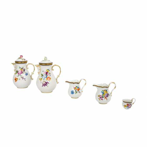 MEISSEN extensive coffee service for up to 15 people, 19./20. Century, 1st choice. - photo 5