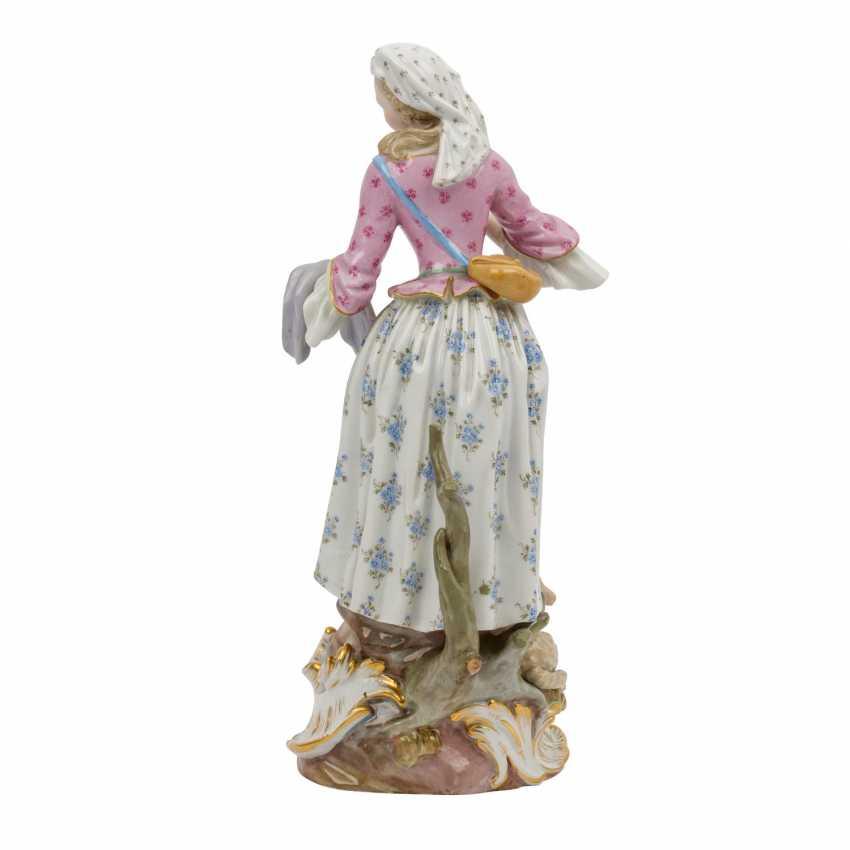 "MEISSEN ""Shepherdess with lamb"", 1860-1924. - photo 3"