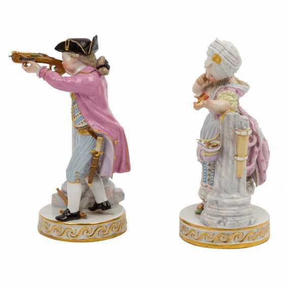 """MEISSEN pair of figures """"Das Herzenschießen"""", 1860-1924. - photo 2"""