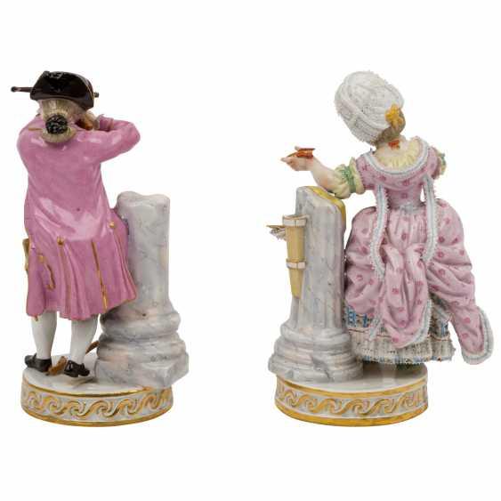 """MEISSEN pair of figures """"Das Herzenschießen"""", 1860-1924. - photo 3"""