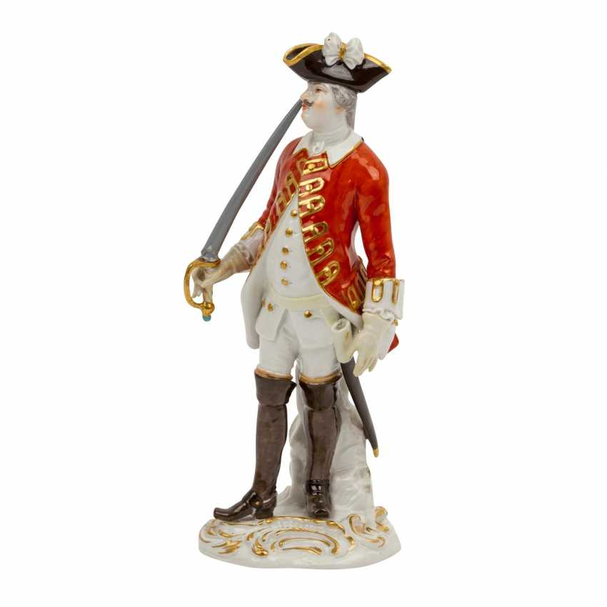 """MEISSEN """"Soldier with sword"""", 1924-1934, 1st choice. - photo 2"""